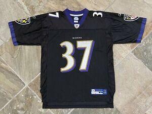 Vintage Baltimore Ravens Deion Sanders Reebok Football Jersey, Size Large