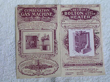 1890s Trade Card/Detroit Bolton Hot Water Heater & Combination Gas Machine