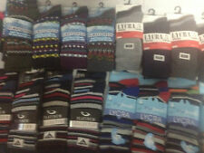 12 Pairs Mens Designer Socks, Cotton Rich Lycra Design Formal Sock Size MEGAMIX