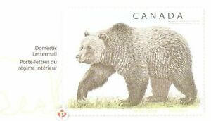 Canada Post Postage Paid Stationery Grizzly Bear - Ours brun enveloppe port payé