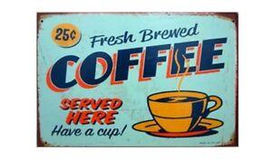 """Unique Lover Coffee Wall Ornament Coffee & Bar Decor Retro Tin Sign 8""""*12"""""""