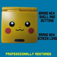 *RESTORED* MINT Nintendo GameBoy Advance GBA SP Pikachu Yellow System AGS-001