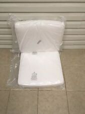 2 pc Frontgate Milano White Deluxe Dining Chair Patio Outdoor Cushions 21x20 NEW