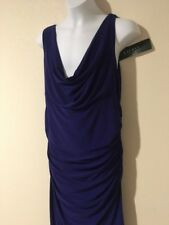 NWT LAUREN RALPH LAUREN Women's Sleeveless Purple Dress - Size 12 - $124