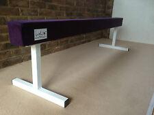 "finest quality gymnastics gym balance beam PURPLE COLOUR 6FT long 18"" high"