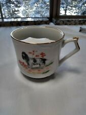 Vtg Mustache Guard Coffee Mug english setter dog Porcelain usa made viletta t2