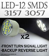 x2 3157 12 SMDs LED Super White Replace Sylvania Brake Tail Light Bulb Lamp W551