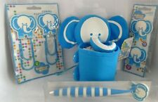 Kritter Krew Elephant Fabric Pencilpen Holder Pen 2 Large Clips And Magnets