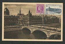 FRANCE MK 1947 UPU PARIS PALAIS JUSTICE MAXIMUMKARTE CARTE MAXIMUM CARD MC d3668