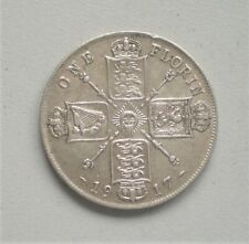 King George V 1914 Florin,  Very Fine Condition 28.5 mm Diameter {E971}