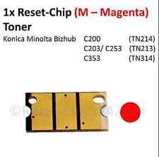 Reset Chip Toner (M - Magenta) für Konica Minolta Bizhub C200 C203 C253 C353