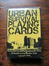 Urban Survival Playing Cards Deck Poker Prepper Emergency - Brand New! Sealed