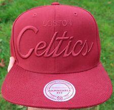 BOSTON CELTICS Mitchell & Ness SNAPBACK HAT Cap - 2008 NBA Finals NEW Maroon Red