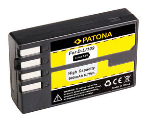 PATONA D-Li109 Akku für Pentax D Li109 | K30 | K-50 | K-500 | K-70 | K-2 | K-R