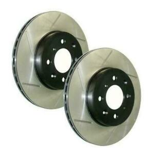 StopTech High Carbon Slotted Front Brake Rotors for 13-14 Shelby GT500