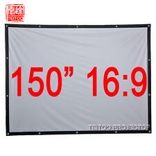 "150""16:9 Outdoor Portable Canvas Projection Screens to 3D LED HD Movie Projector"