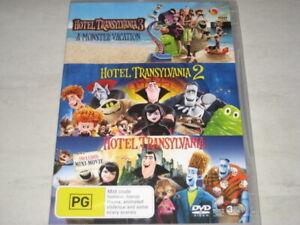 HOTEL TRANSYLVANIA 1+2+3 3 movie collection DVD R4 NEW/SEALED