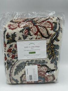 "New Pottery Barn Haylie Print Blackout Drape 50"" x 108"" ~Red~ 1 Drape"