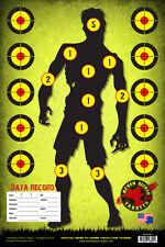 ZOMBIE SNIPER RANGE TRAINING PAPER TARGETS: SURVIVAL SERIES 101: 15 PACK