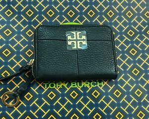 NWT Tory Burch 'Ivy' Leather Zip Around Coin Case Wallet-Light Oak Retail $115
