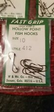 Hollow Point Fish Hooks Size 10