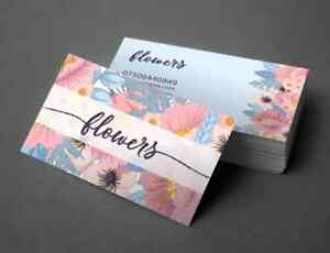 Personalised business cards, thank you cards, printed glossy or silk full colour