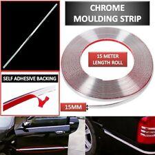 49ft 15mm DIY Silver Chrome Moulding Strip Car Exterior Door Trim Edge Guards UK