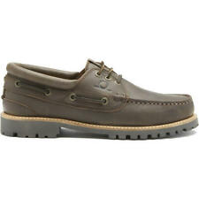 Chatham Sperrin Mens Dark Brown Leather Lace Up Deck Boat Shoes Size 8-11