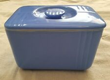 Westinghouse Hall China Blue Refrigerator Dish Art Deco with Lid Vintage