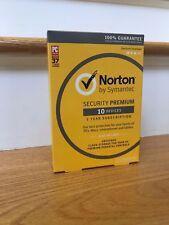 Norton Security Premium 2018 - 10 Devices - Newest Full Retail (Box)