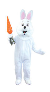 Ultra Soft Deluxe Easter Bunny Rabbit Mascot Outfit Adult Costume Halloween