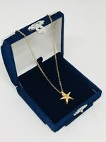 Vintage Pendant Necklace Gold Tone Chain Dainty Delicate Costume Jewellery Gift