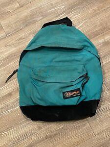 Vintage EASTPAK Backpack 90's Suede Leather Bottom