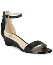 COLE HAAN ADDERLY WEDGE BLACK NUDE WOMEN'S OPEN TOE SANDALS SHOES MULTISIZE