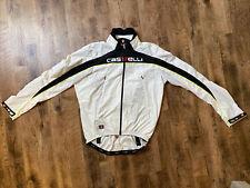 New listing Castelli WindStopper White Cycling Jacket Zip Women's XL EUC