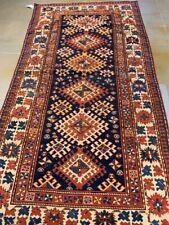 """Antique Vintage Kazak Caucasian Rug - Circa 1900 - 8' x 4'2"""""""