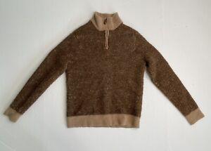 Polo golf Ralph Lauren 1/4 zip brown sweater boys sz M  (10-12)