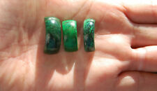 *** Sehr hübscher 3-er Set in grüner Jadeit – Jade, Fei Cui, A - Jade ***