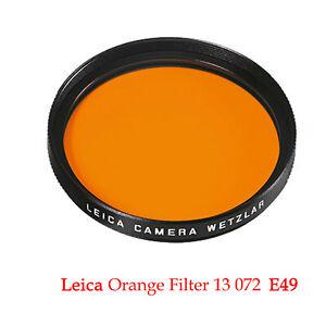 LEICA E49 Filter Orange, schwarz  13 072   Ø 49mm  - Neuware * Fotofachhändler *