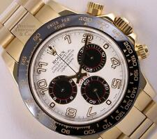 Rolex Daytona 116528 18k Yellow Gold-White/Black Arab Dial-Black Insert-2Y WTY
