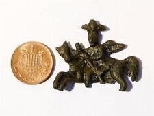 Bronzo romano-medievale 14-16thC FERMI secolare Pellegrino BADGE rilevato #A42