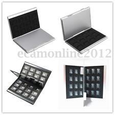 24 Slot Aluminum Memory Card Storage Case Box Holders For TF Micro SD HC Card