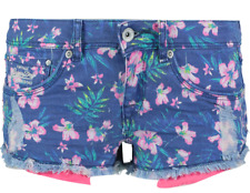 SUPERDRY Women's Girl's Printed Hot Shorts Navy Hibiscus - size W28