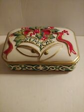 Fitz & Floyd Christmas Bell Trinket Box & Lid / Candy Dish New Embossed Design