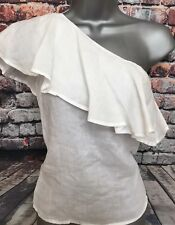NEW NEXT 16 Petite White One Shoulder Sun Tunic Blouse Party Top RRP £28