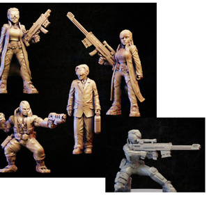 Cyberpunk Corporate  Onmioji  28mm 32mm multi listing