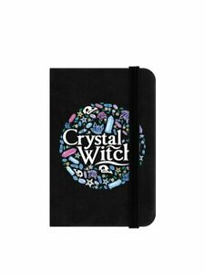 Notebook Crystal Witch Mini Black 6.5x10cm witchy journal book student, notes