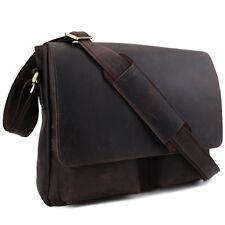 Retro Men's Real Leather Messenger Shoulder Bag Cross Body Satchel Schoolbag