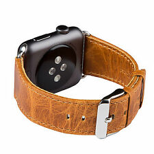 FUTLEX Watch Strap for Apple Watch - 38mm - Orange Genuine Heritage Leather Band