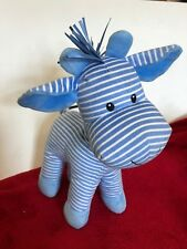 """Mothercare BLUE STRIPE GIRAFFE 12"""" Baby Comforter Hug Soother Soft Plush Toy"""